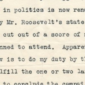 Woodrow Wilson Suspends His Campaign on Account of Theodore Roosevelt Assassination Attempt