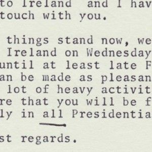 President John F. Kennedy Plans a Pleasure Trip to His Ancestral Home, Ireland