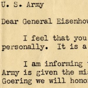 "General Eisenhower Approves a Soldier's Request to Shoot Captured Reich Marshal Goering -""The Fat ____"""