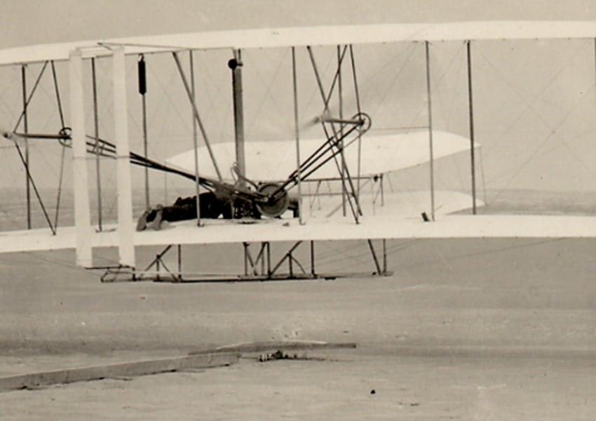 First flight at Kitty Hawk