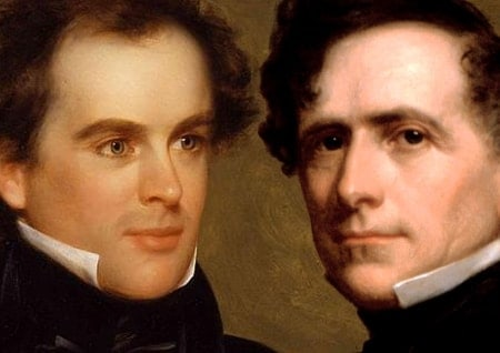 Painted portraits of Nathaniel Hawthorn and Franklin Pierce