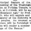 Newspaper clipping describing a lecture being given by Charles Newburgh, Jewish American Civil War veteran.